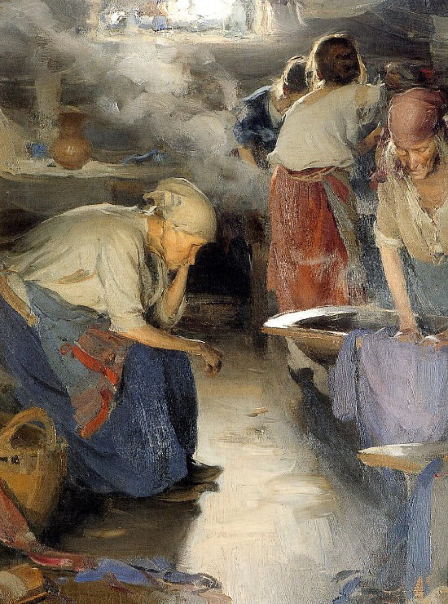 The Washer Women de Abram Arkhipov