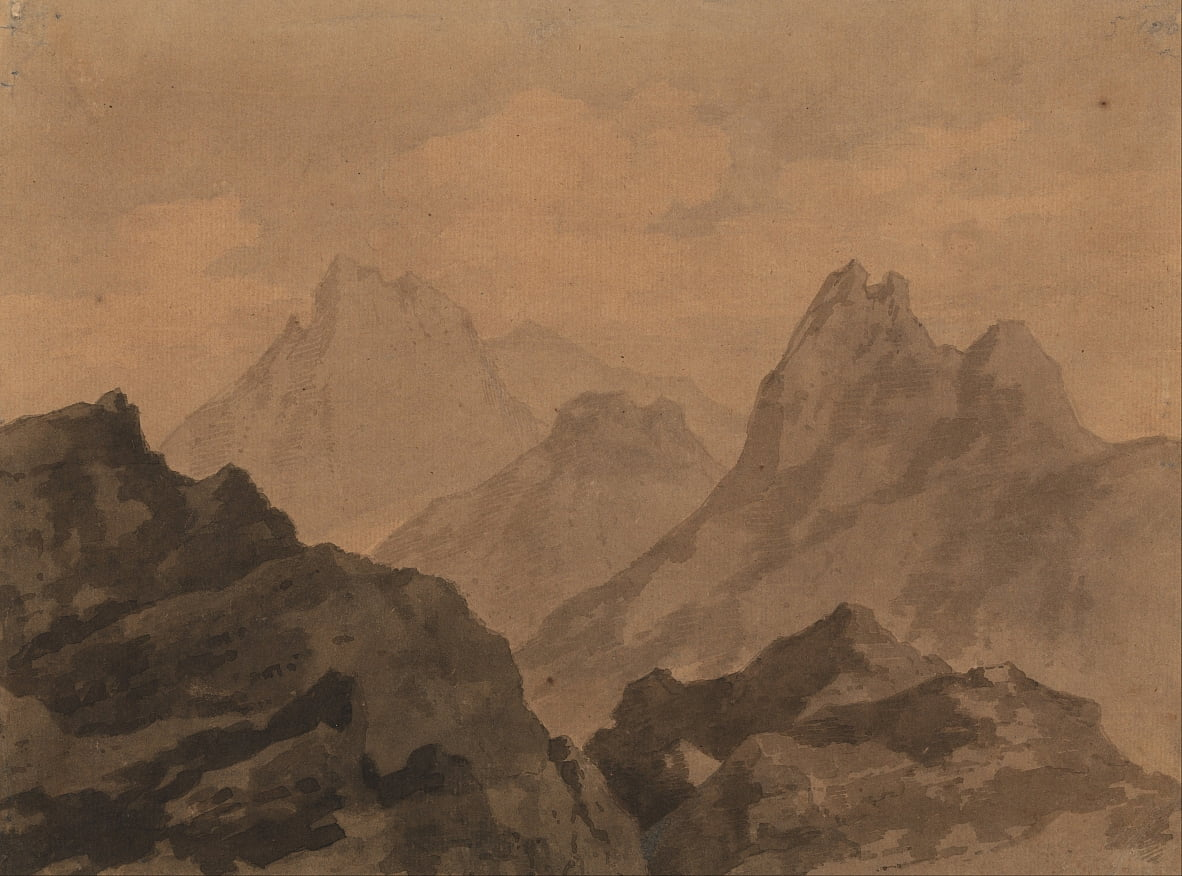 Estudio Mountain Tops Mountain de Alexander Cozens