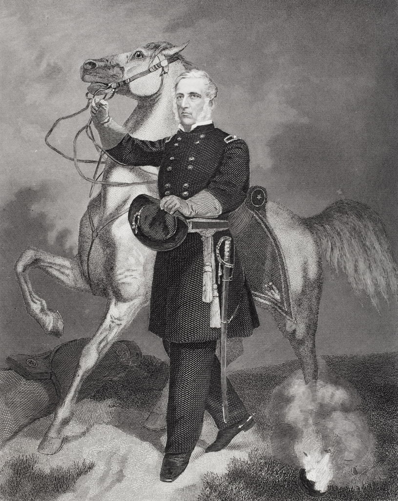 Retrato del general James Samuel Wadsworth (1807-64) (litografía) de Alonzo Chappel
