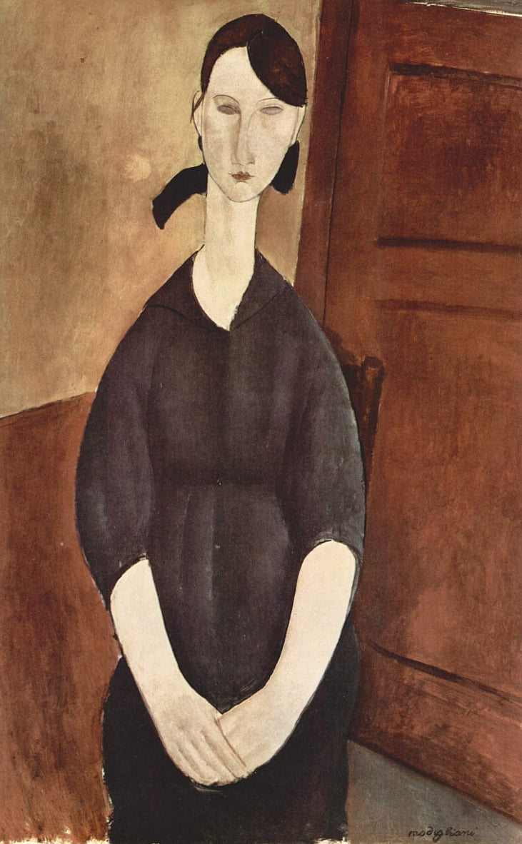 Retrato de Paulette Jourdain de Amedeo Modigliani