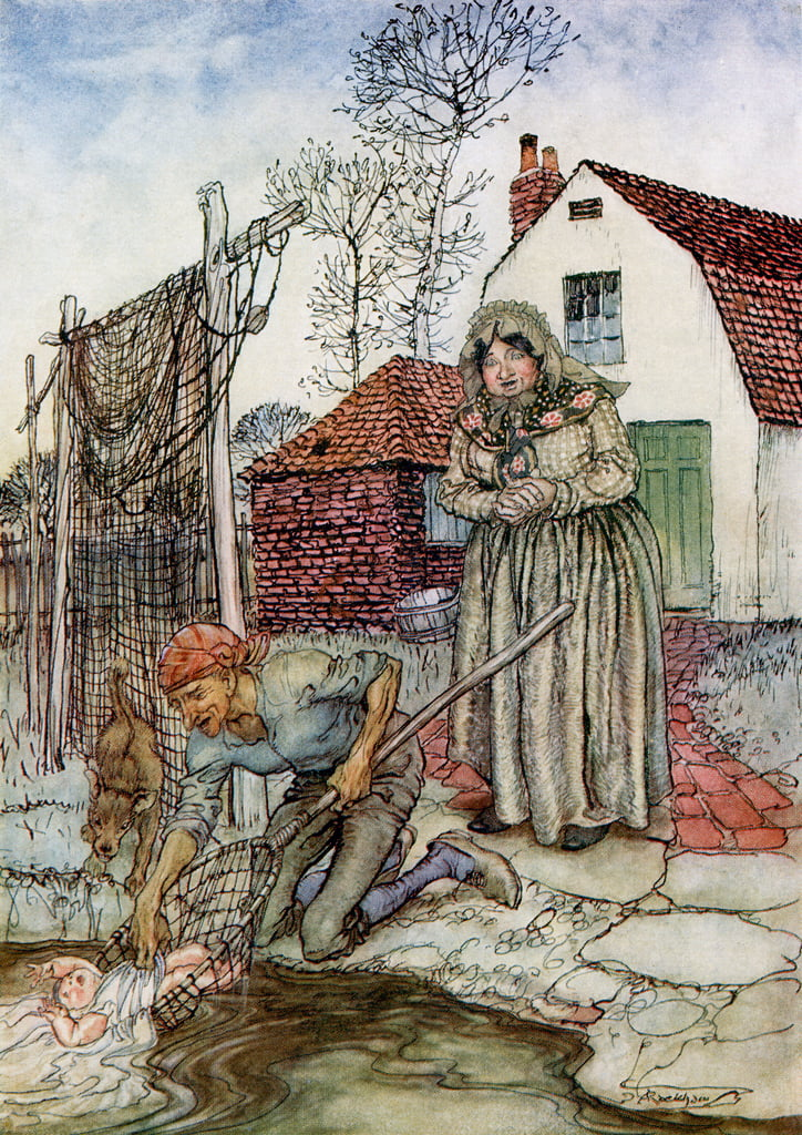 The Fish and the Ring, de English Fairy Tales Retold by FA Steel, 1927 de Arthur Rackham