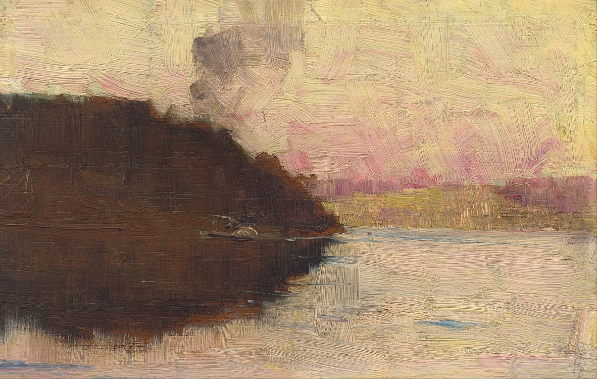 The Point, sunset de Arthur Streeton