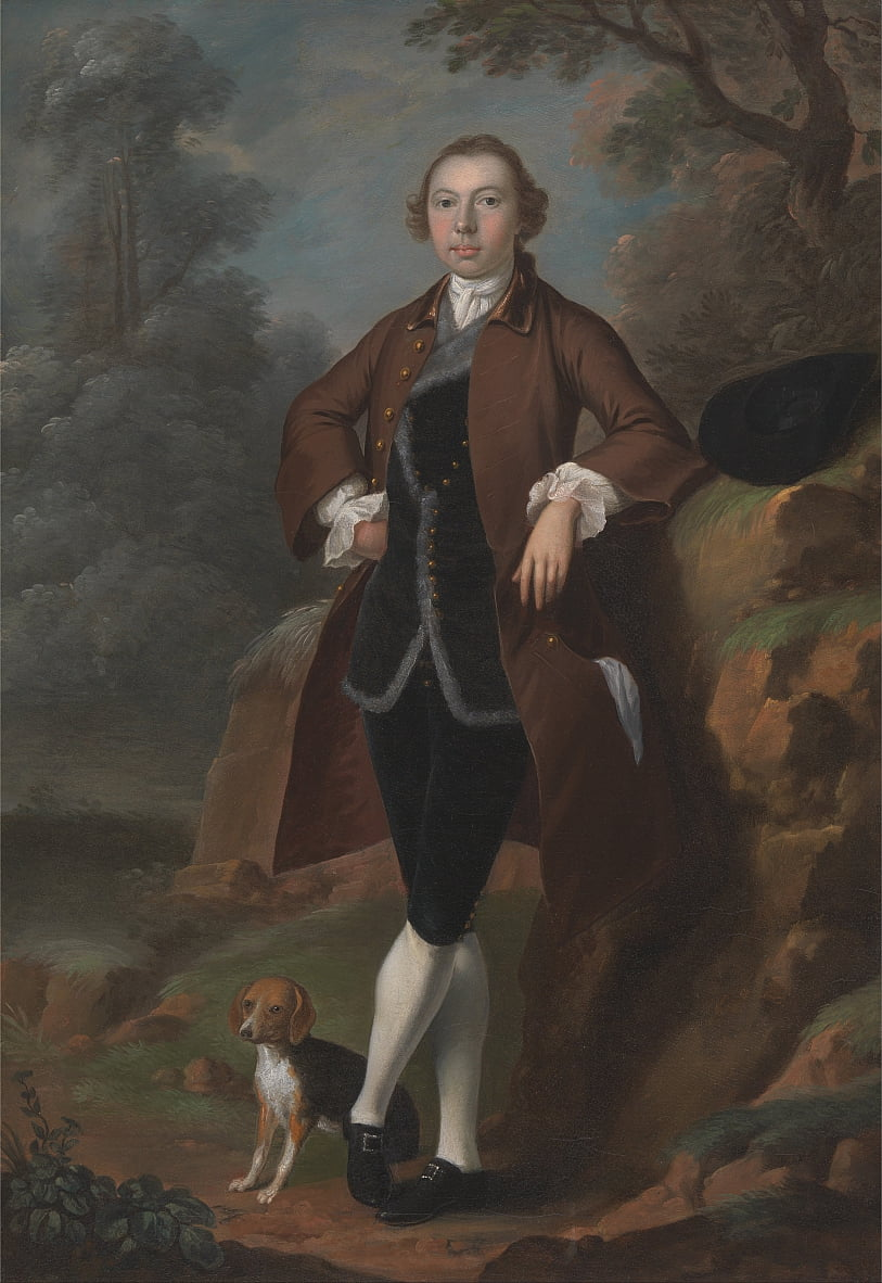 William Farington de Shawe Hall, Lancashire de Arthur Devis