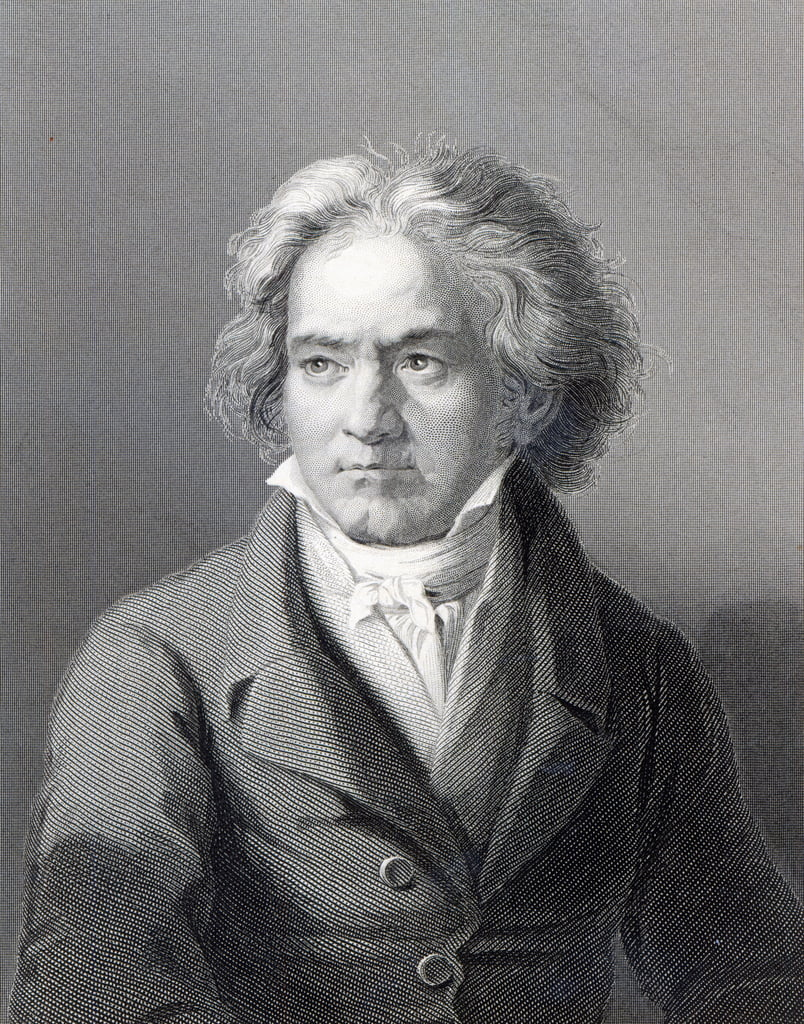 Ludwig van Beethoven, grabado por William Holl the Younger (grabado) de August Karl Friedrich von Kloeber