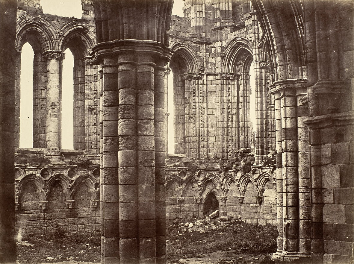 Whitby Abbey, Yorkshire, North Transept de Benjamin Brecknell Turner
