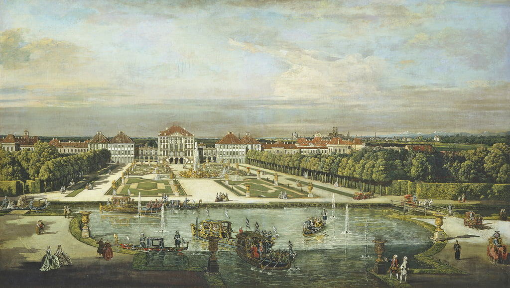 Palacio de Nymphenburg, Munich, c.1761 de Bernardo Bellotto