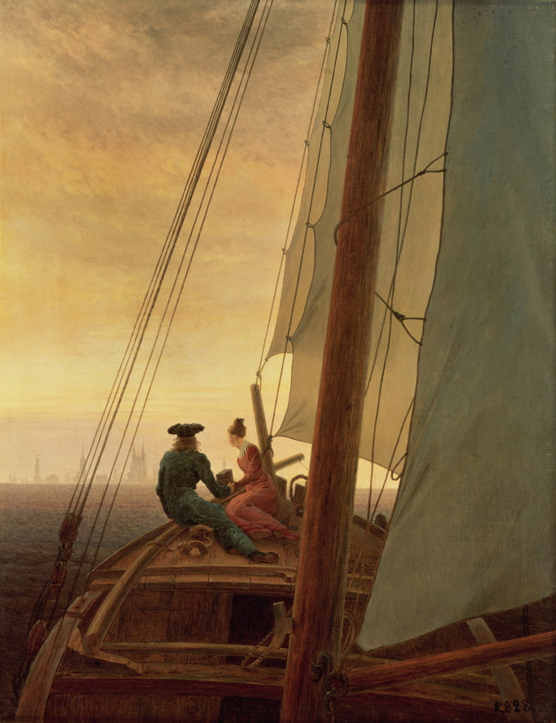 A bordo de un velero de Caspar David Friedrich