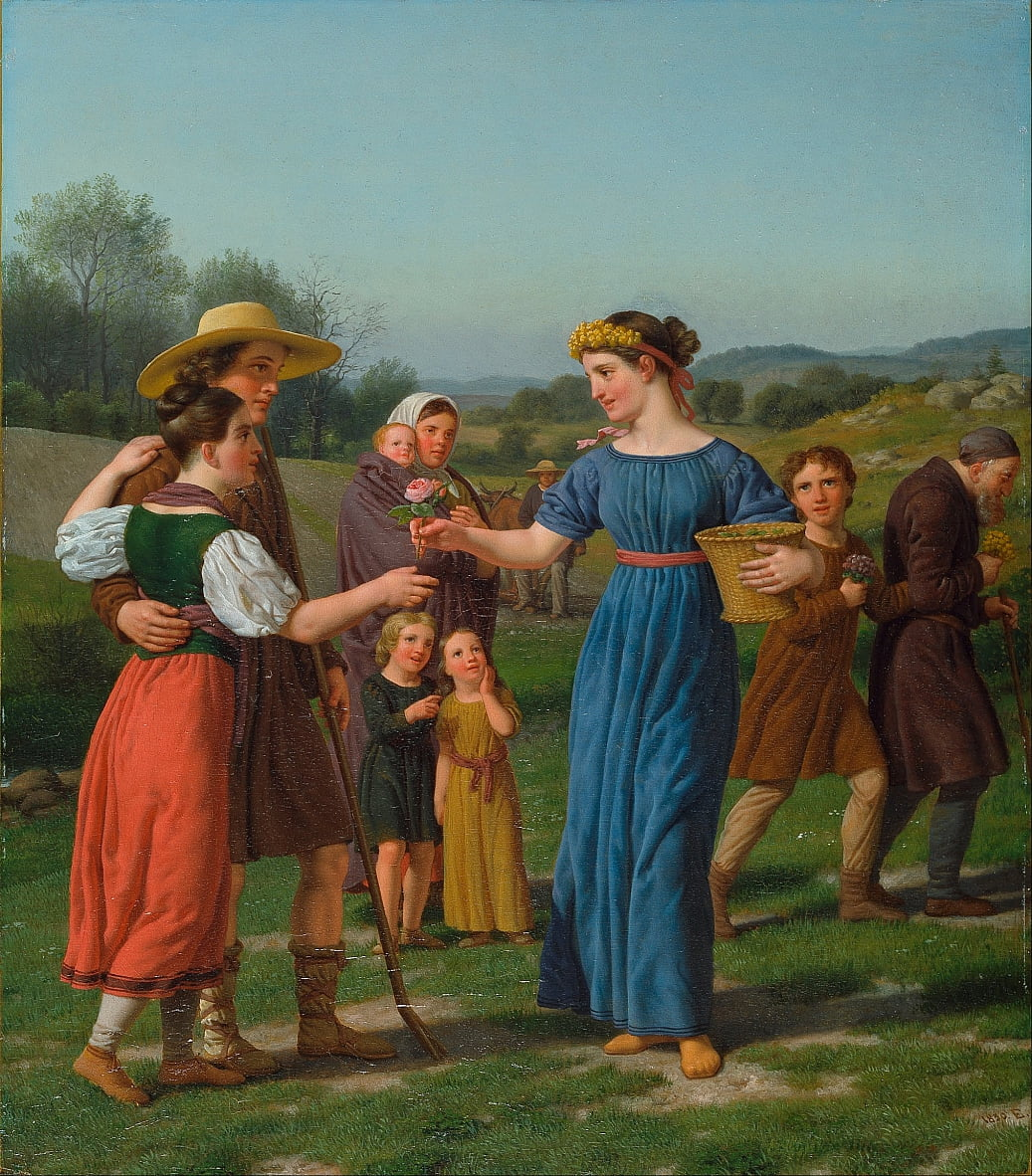 The Maiden from Afar Del poema de Schiller de Christoffer Wilhelm Eckersberg