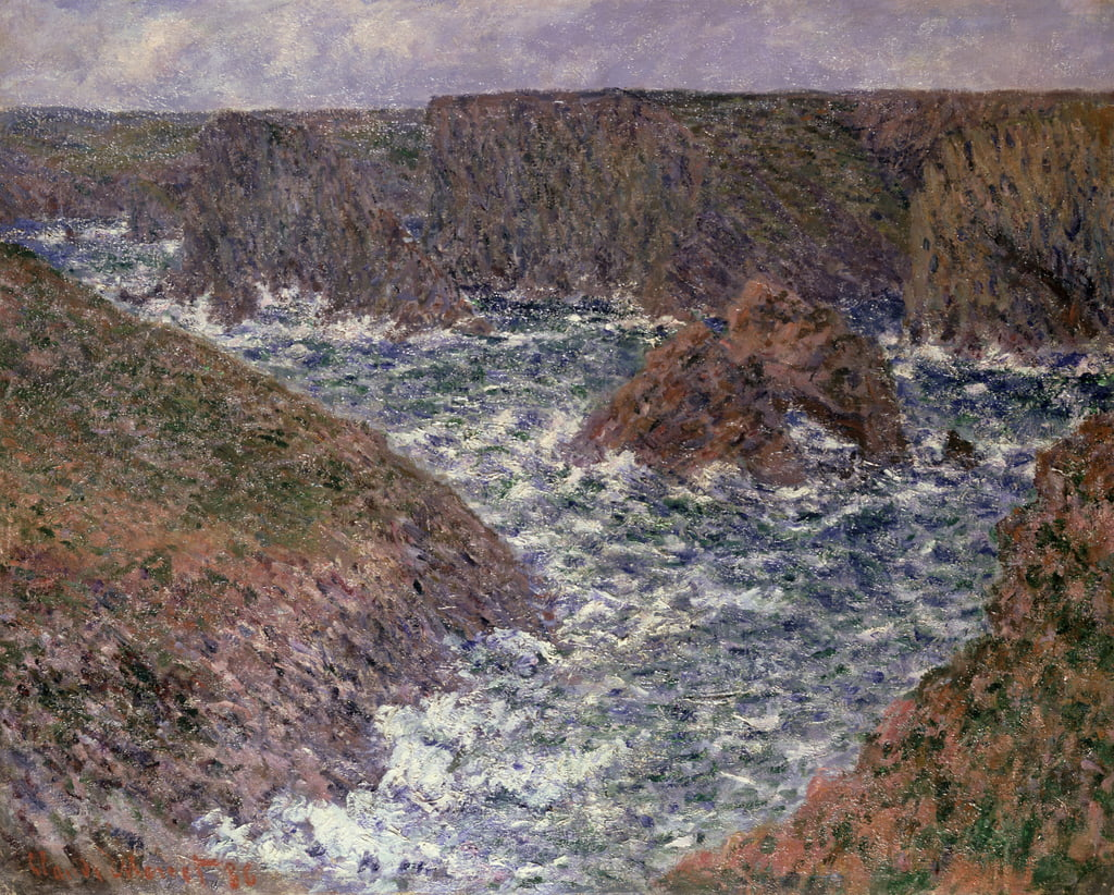 Port Domois en Belle Ile, 1886 de Claude Monet