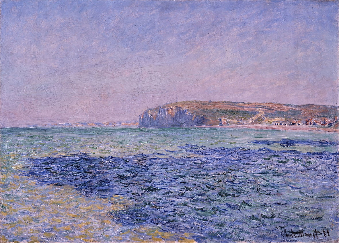 Sombras en el mar. The Cliffs at Pourville de Claude Monet