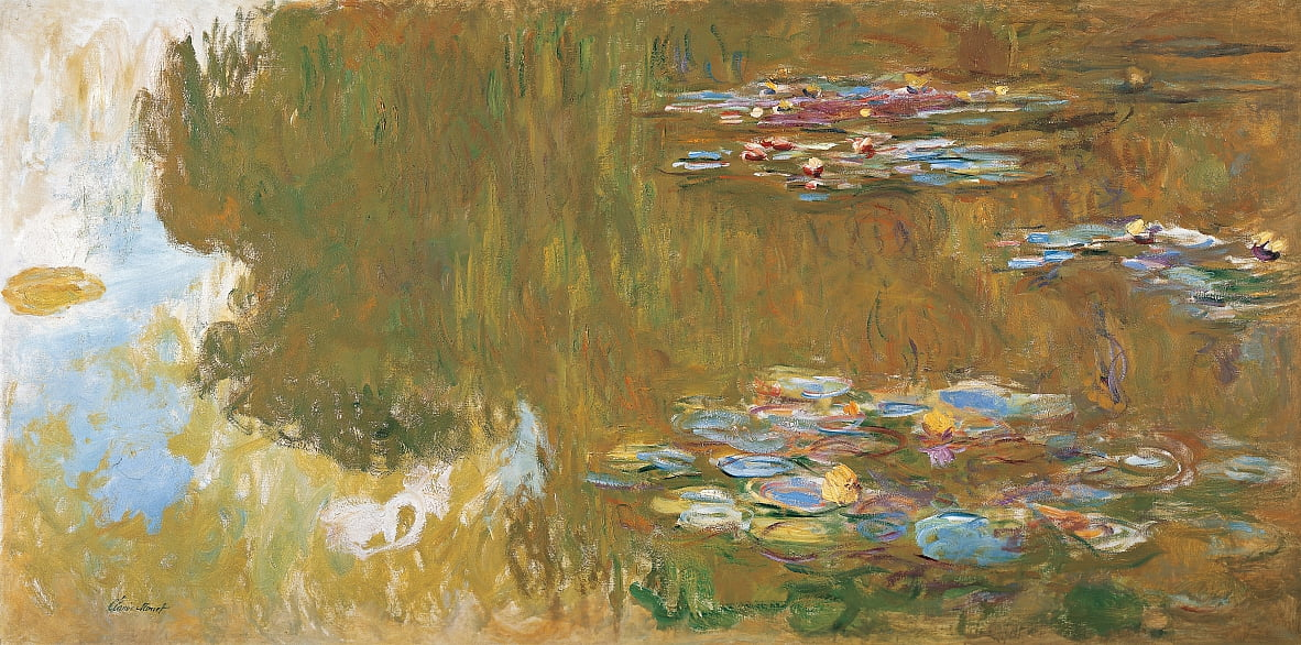 The Water Lily Pond, c. 1917-19 de Claude Monet
