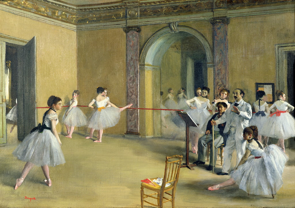 The Dance Foyer en la Opera de la rue Le Peletier, 1872 de Edgar Degas