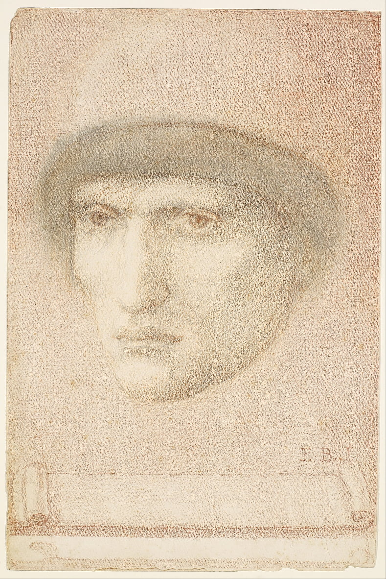 Retrato masculino de Edward Burne Jones