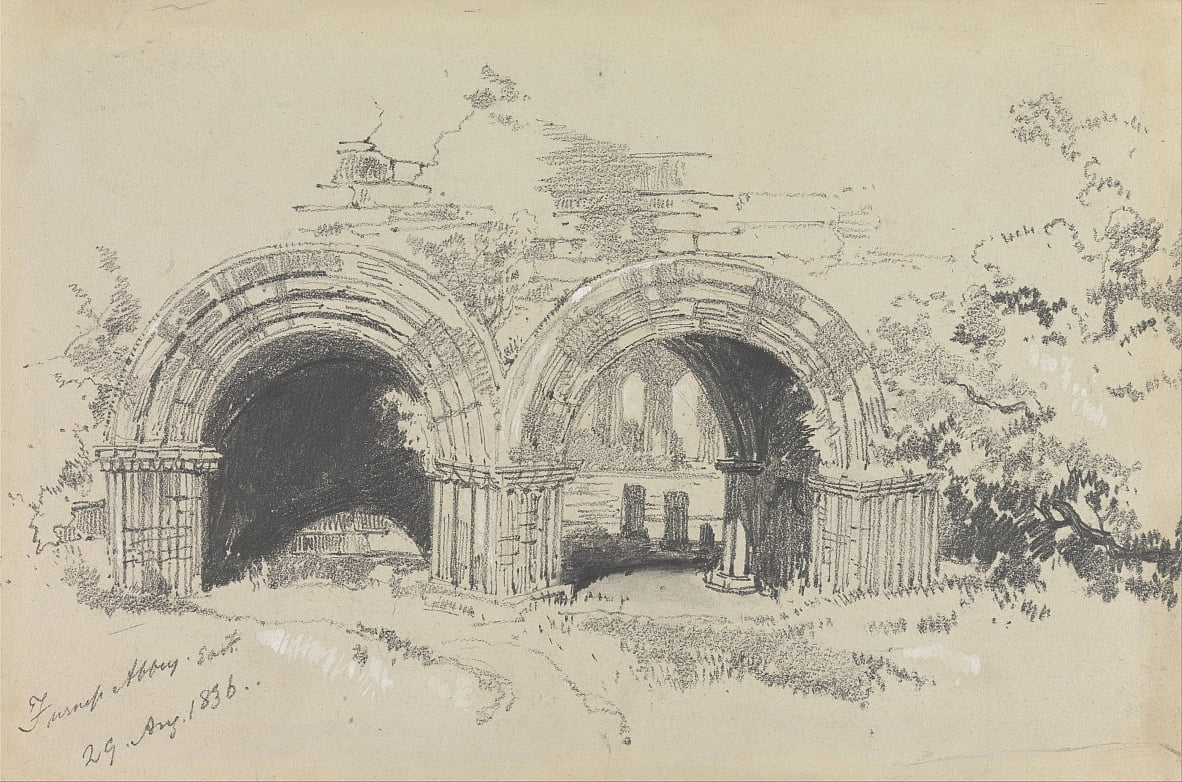 Furness Abbey East, 29 de agosto de 1836 de Edward Lear