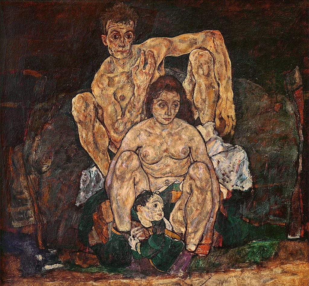 La familia, 1918 de Egon Schiele