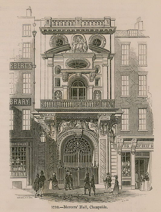 Mercers Hall, Cheapside, Londres de English School