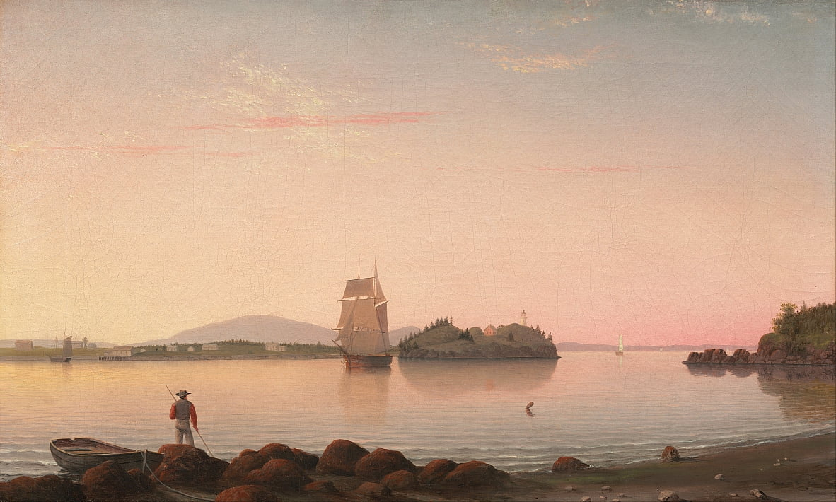 Owls Head, Penobscot Bay, Maine de Fitz Henry Lane