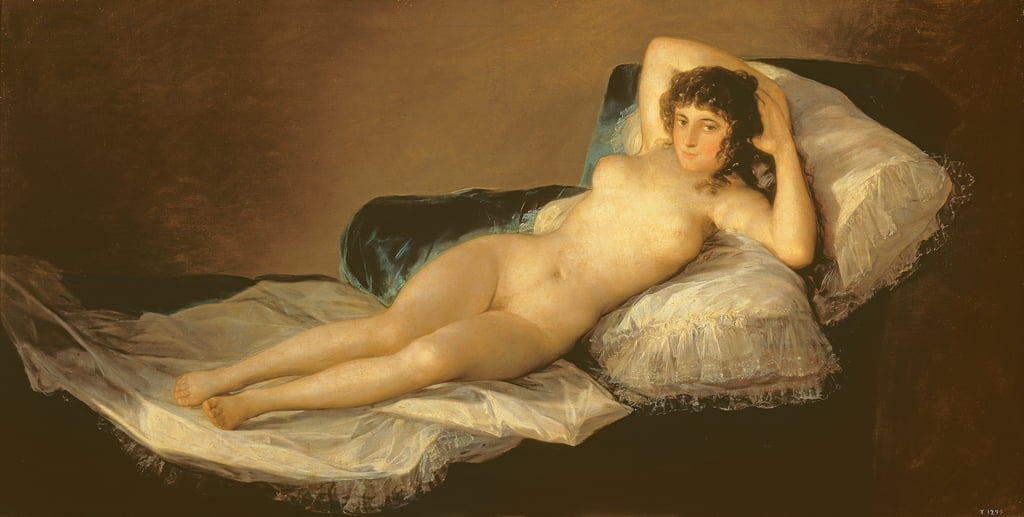 The Naked Maja, c.1800 de Francisco de Goya