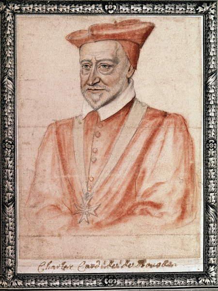 Carlos de Borbón (1523 - 1590), arzobispo de Ruán (dibujo) de French School