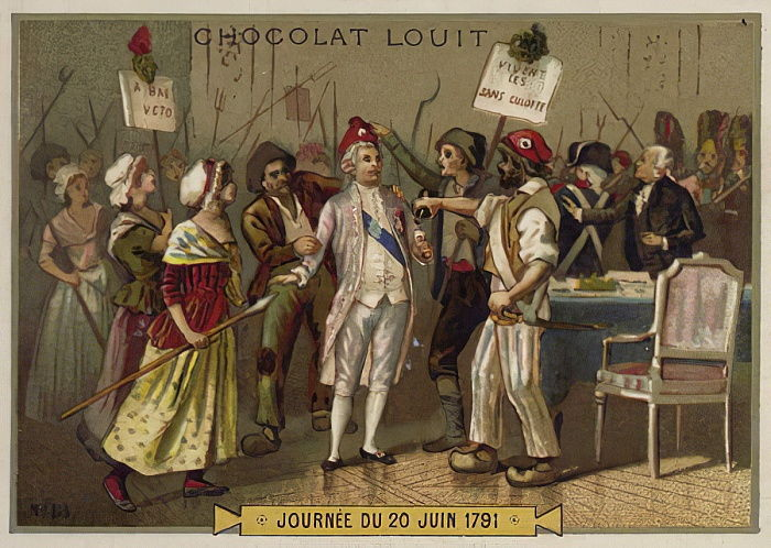 Los sans-culottes invaden el Palacio de las Tullerías, Revolución Francesa, 20 de junio de 1792 de French School