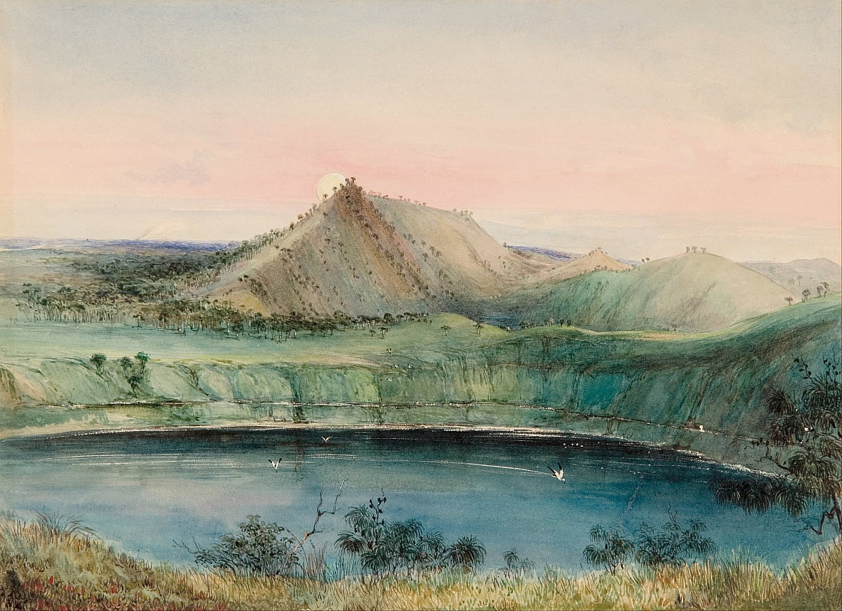 Blue Lake, Mount Gambier de George French Angas