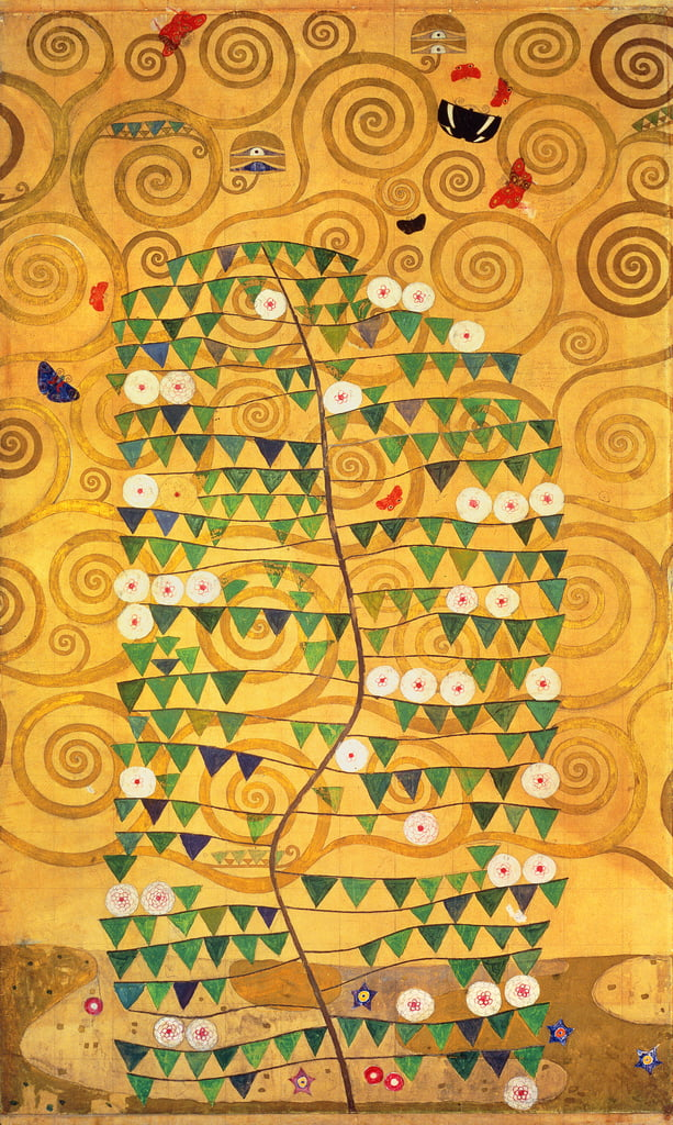 Árbol de la vida (Stoclet Frieze) c.1905-09 (tempera, wc) de Gustav Klimt