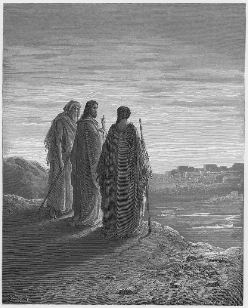 Biblia Gustave Dore: Jesús y los discípulos van ...