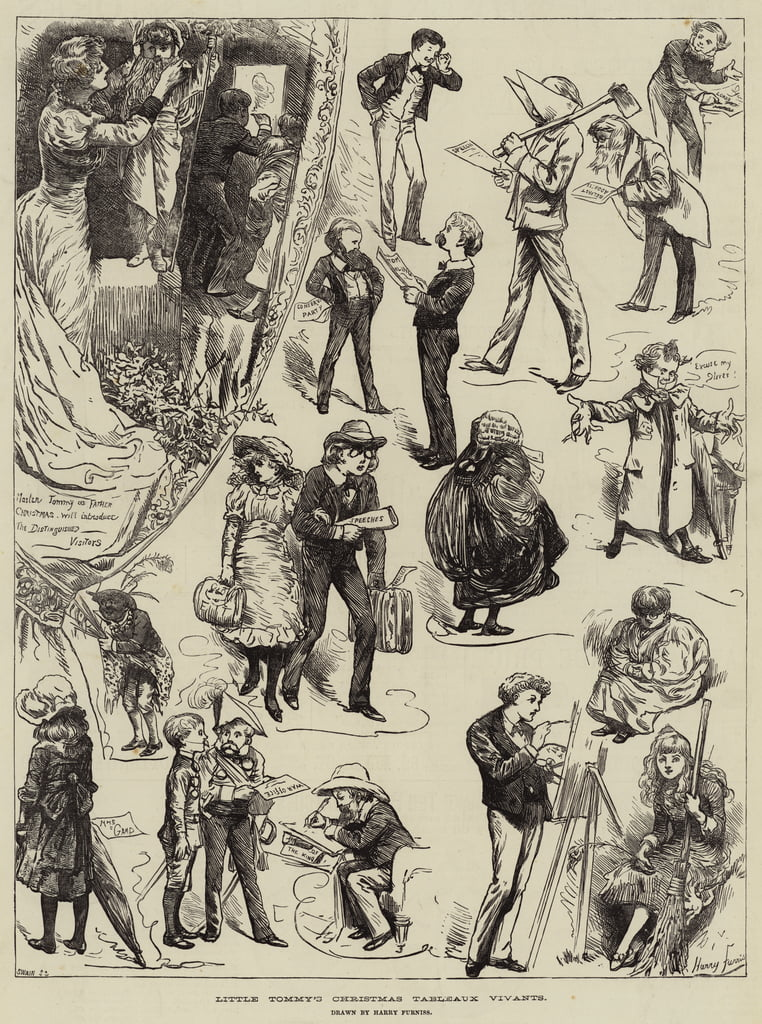 Little Tommy&39;s Christmas Living Paintings de Harry Furniss