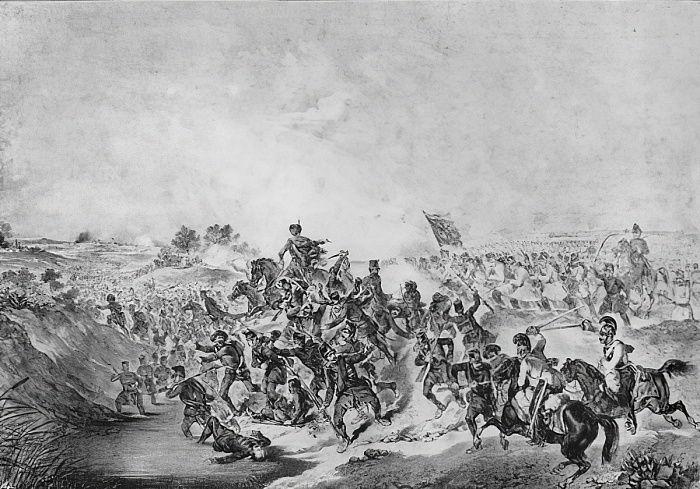 La batalla de Temesvar durante la revolución hún...