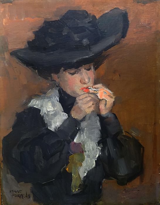 Mujer con cigarrillo de Isaac Israels