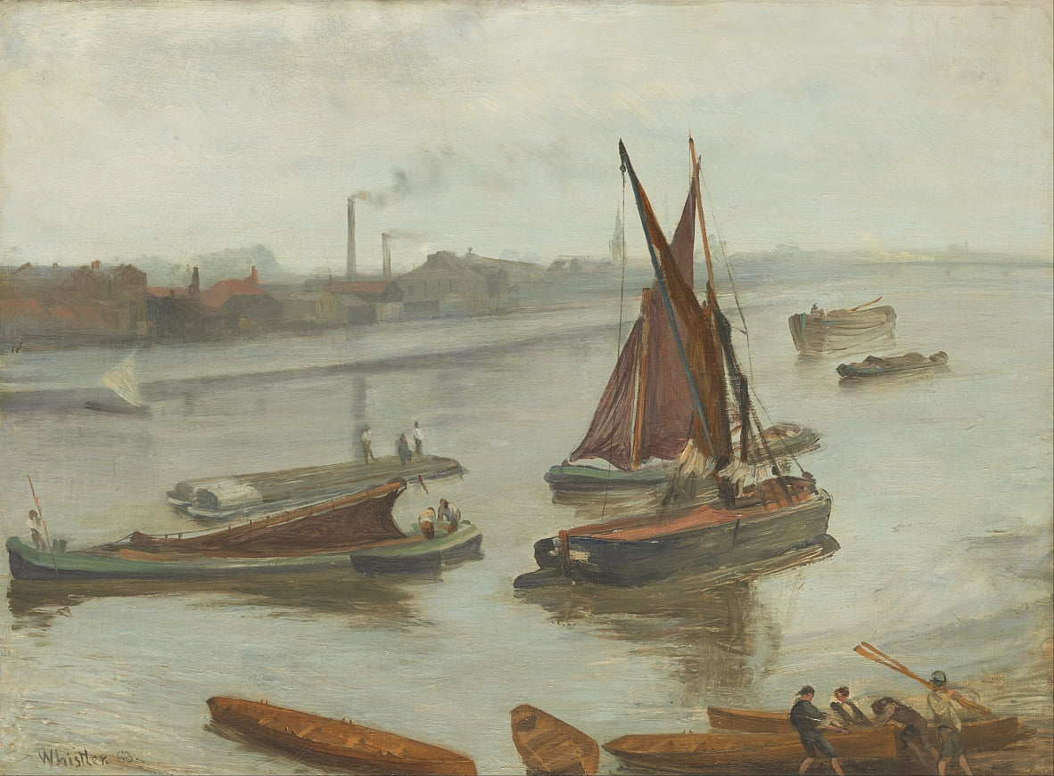 Viejo alcance de Battersea de James Abbott McNeill Whistler