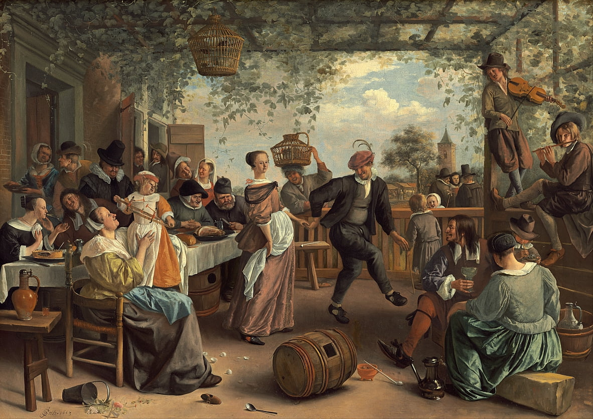 La pareja de baile de Jan Havickszoon Steen