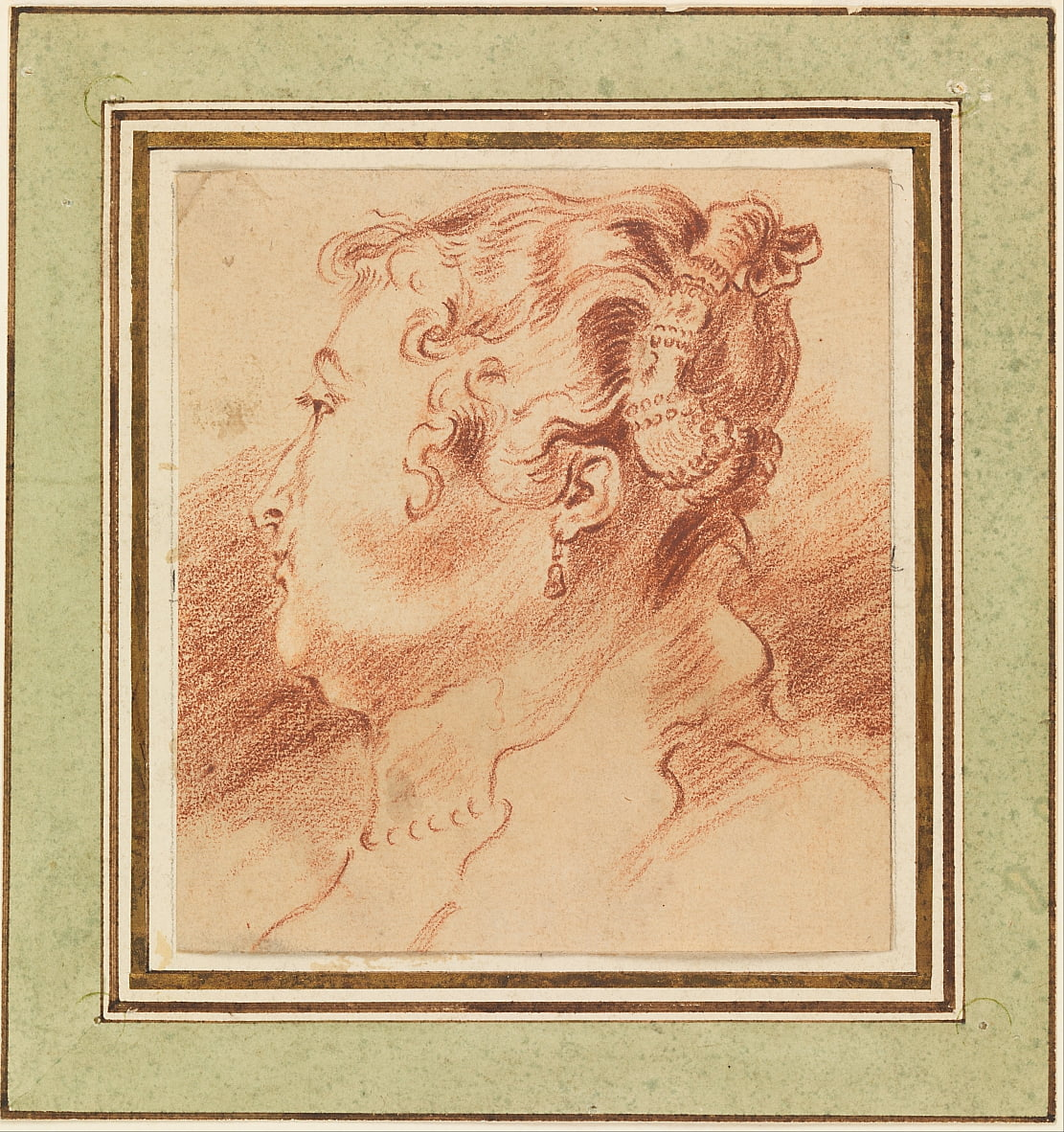 Estudio de Womans Head de Jean Antoine Watteau