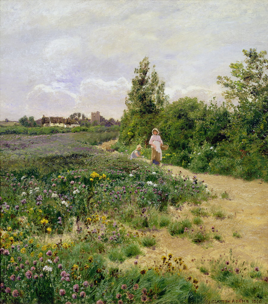 A Surrey Lane, 1890 de John Clayton Adams