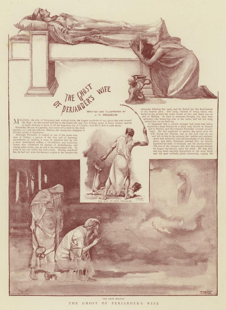El fantasma de la esposa de Periander de John Reinhard Weguelin