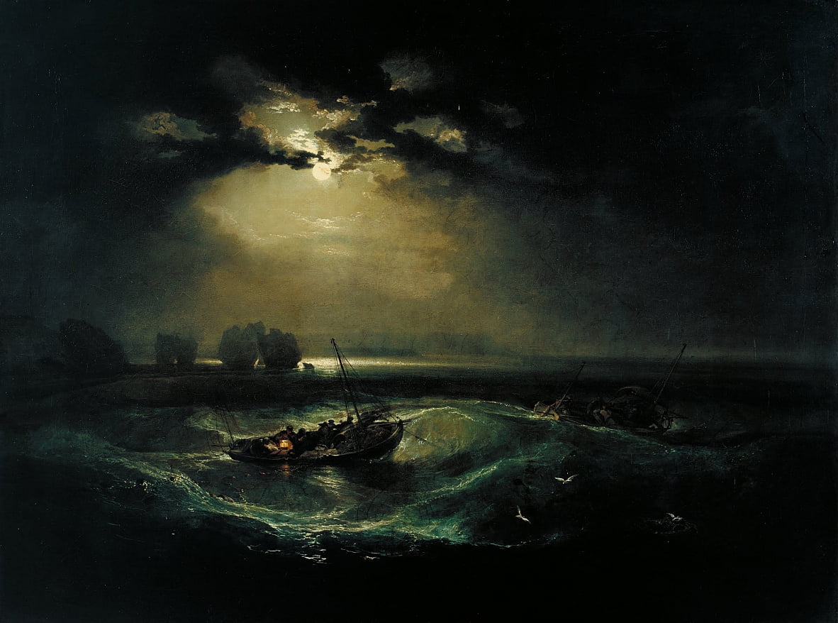 Pescadores en el mar de Joseph Mallord William Turner