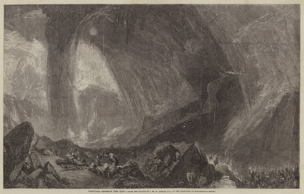 Hannibal cruzando los Alpes de Joseph Mallord William Turner