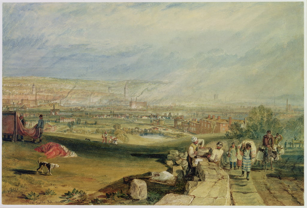 Leeds (wc en papel tejido) de Joseph Mallord William Turner