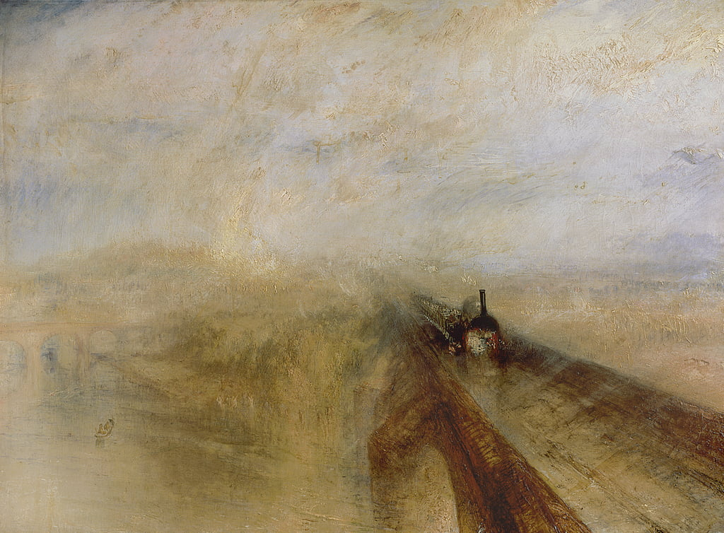 Lluvia de vapor y velocidad, el Great Western Railway de Joseph Mallord William Turner