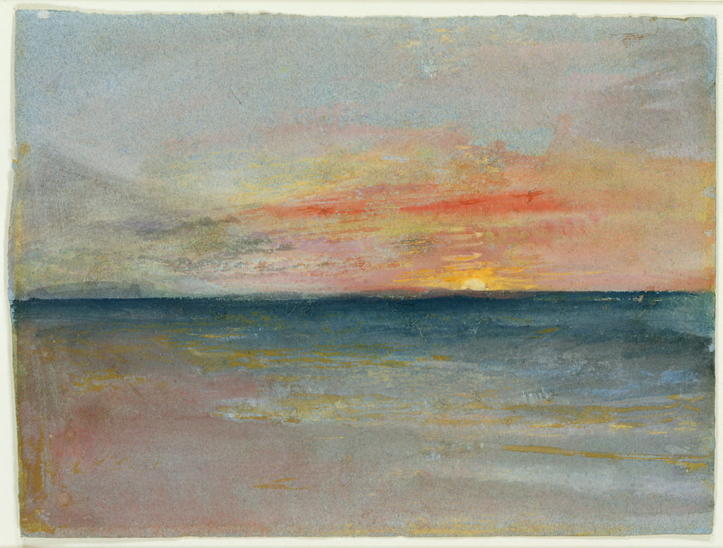 Estudio del cielo de Joseph Mallord William Turner