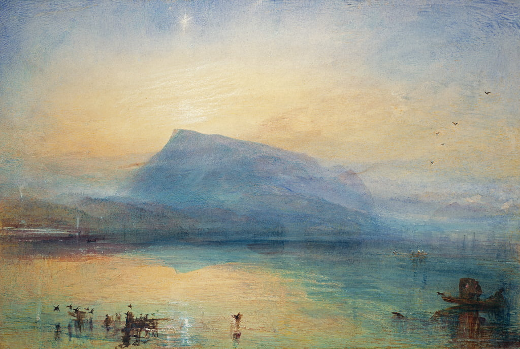 The Blue Rigi: lago de Lucerna - Sunrise, 1842 de Joseph Mallord William Turner