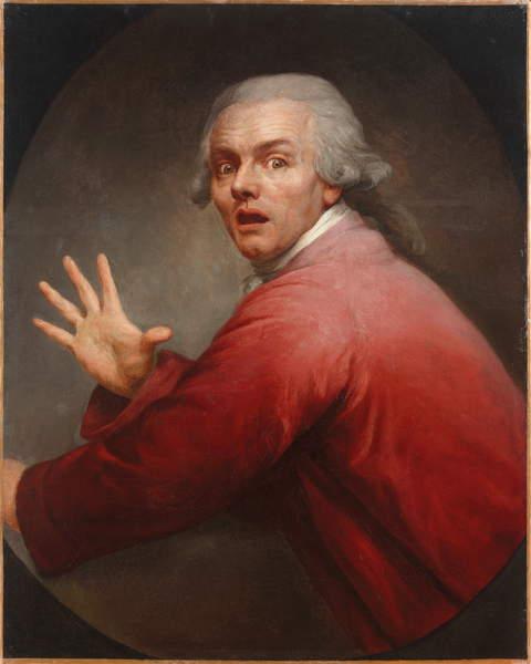 Autorretrato como un hombre sorprendido y aterrorizado de Joseph Ducreux