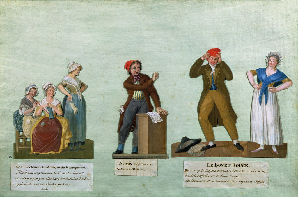 The Jacobin Knitters, un Jacobin y el Red Bonnet de Lesueur Brothers