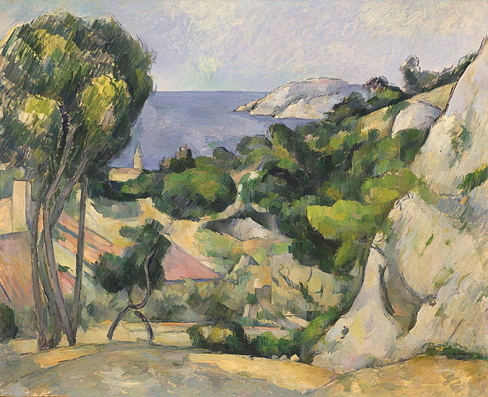 THEstaque, 1879-83 de Paul Cézanne