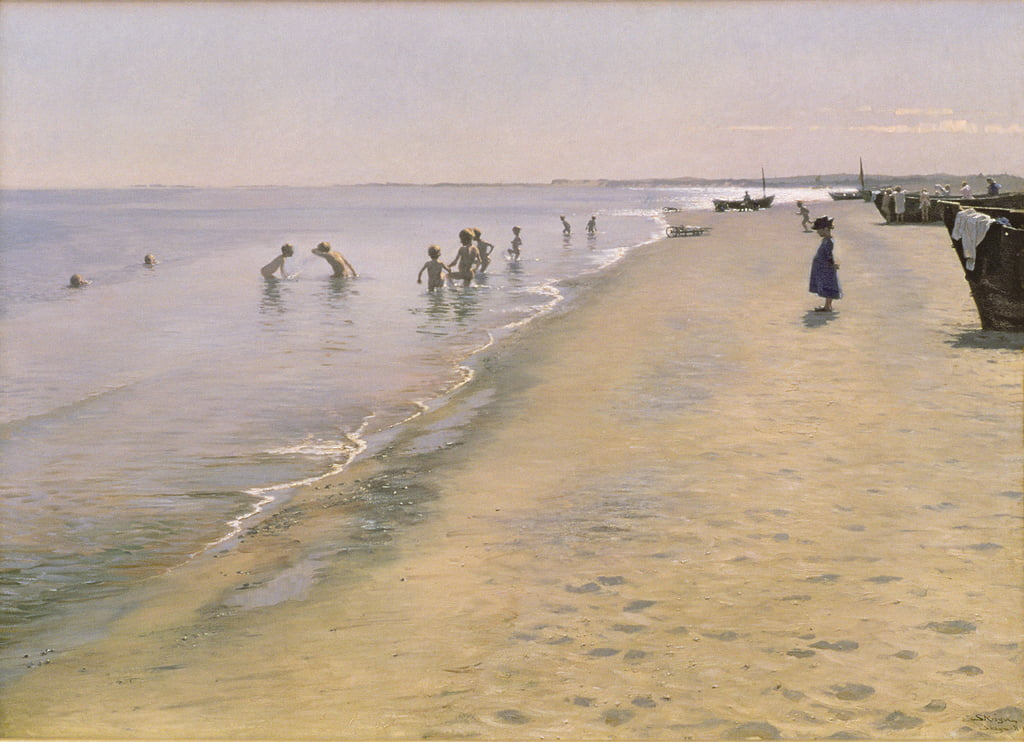 Día de verano en South Beach of Skagen, 1884 de Peder Severin Krøyer
