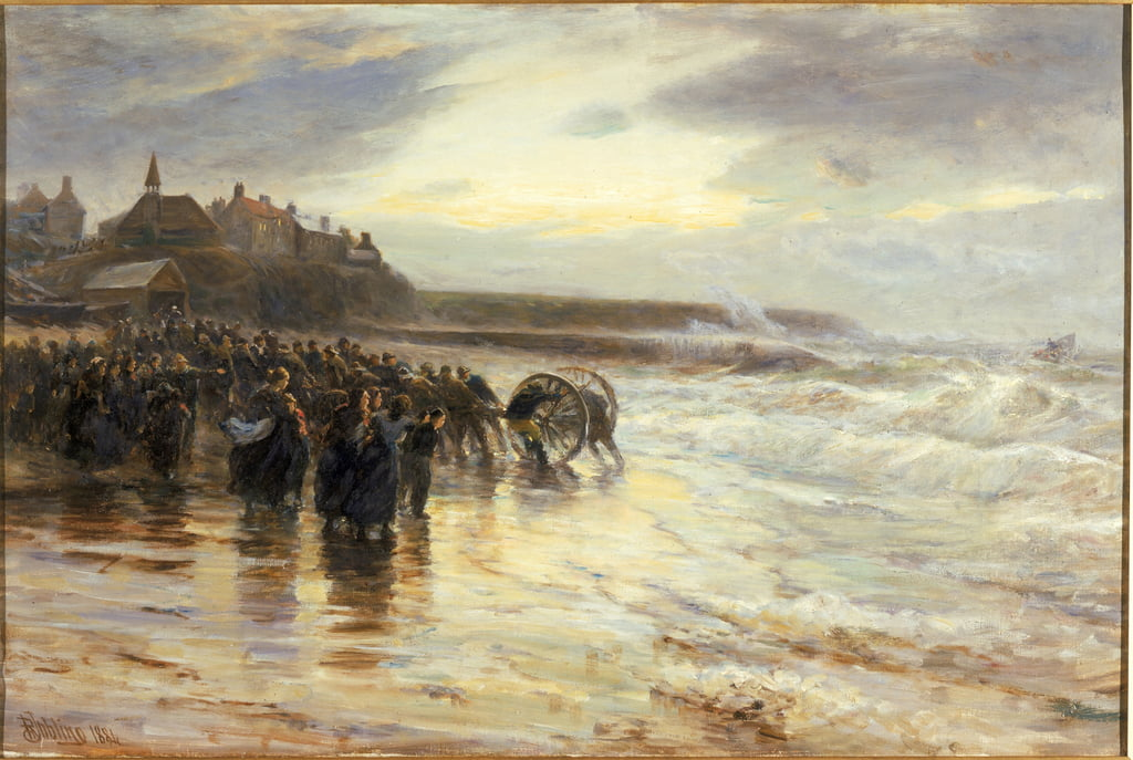 The Lifeboat Off, 1884 de Robert Jobling