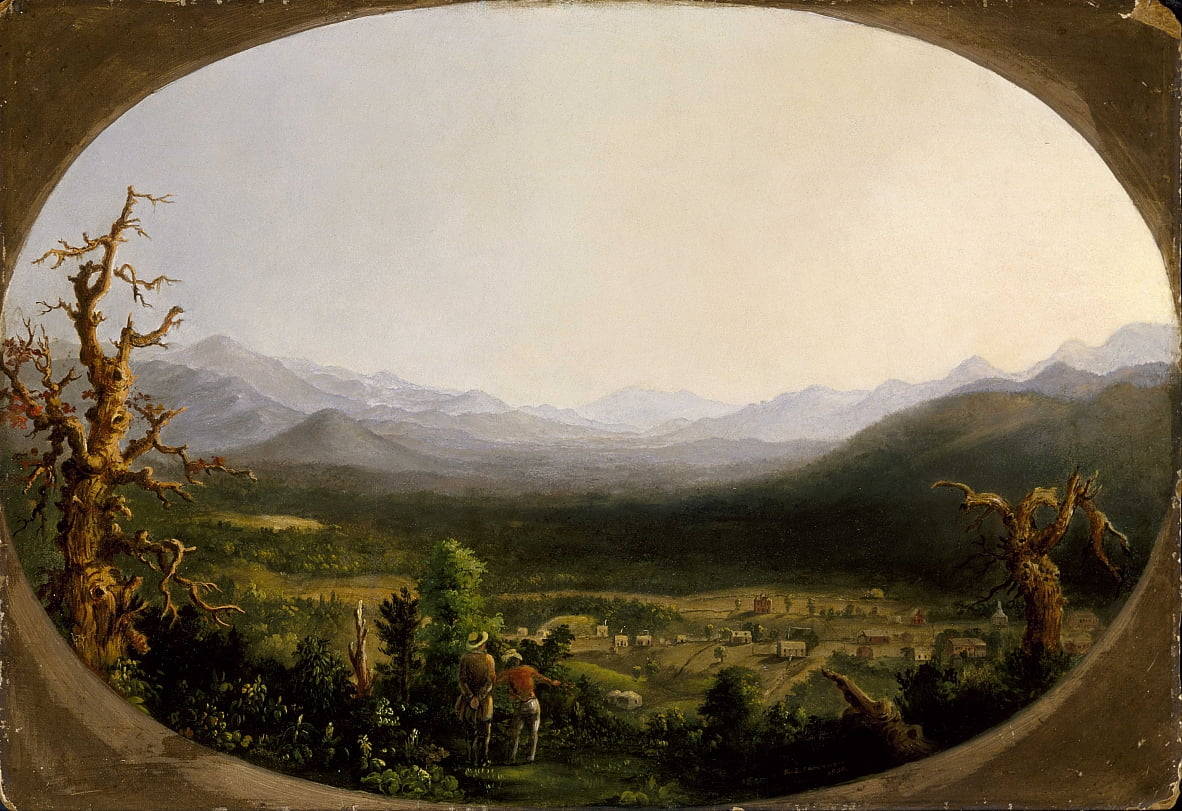 Una vista de Asheville, Carolina del Norte de Robert Scott Duncanson