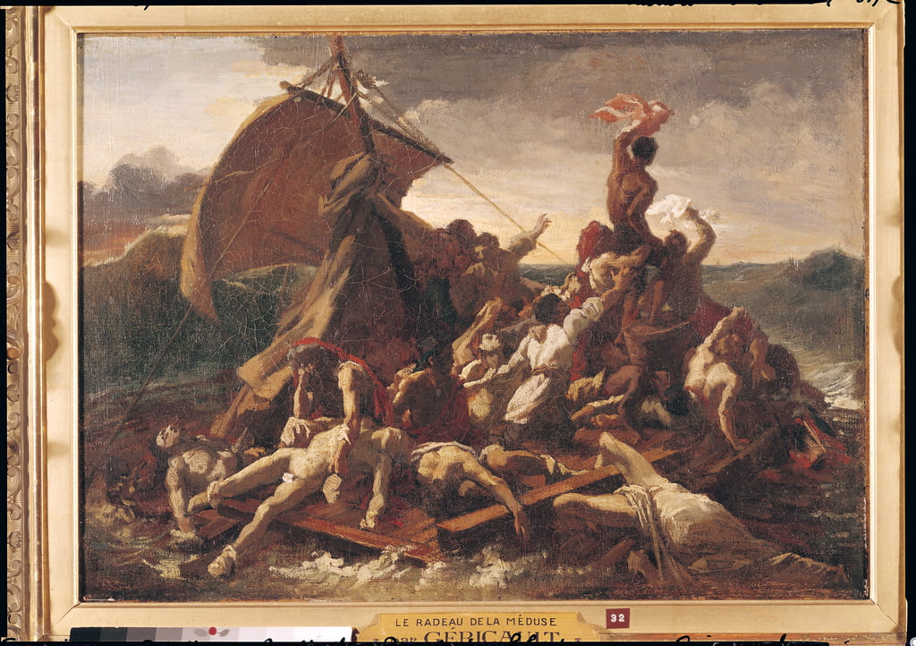 Estudio para The Raft of the Medusa, 1819 de Theodore Gericault