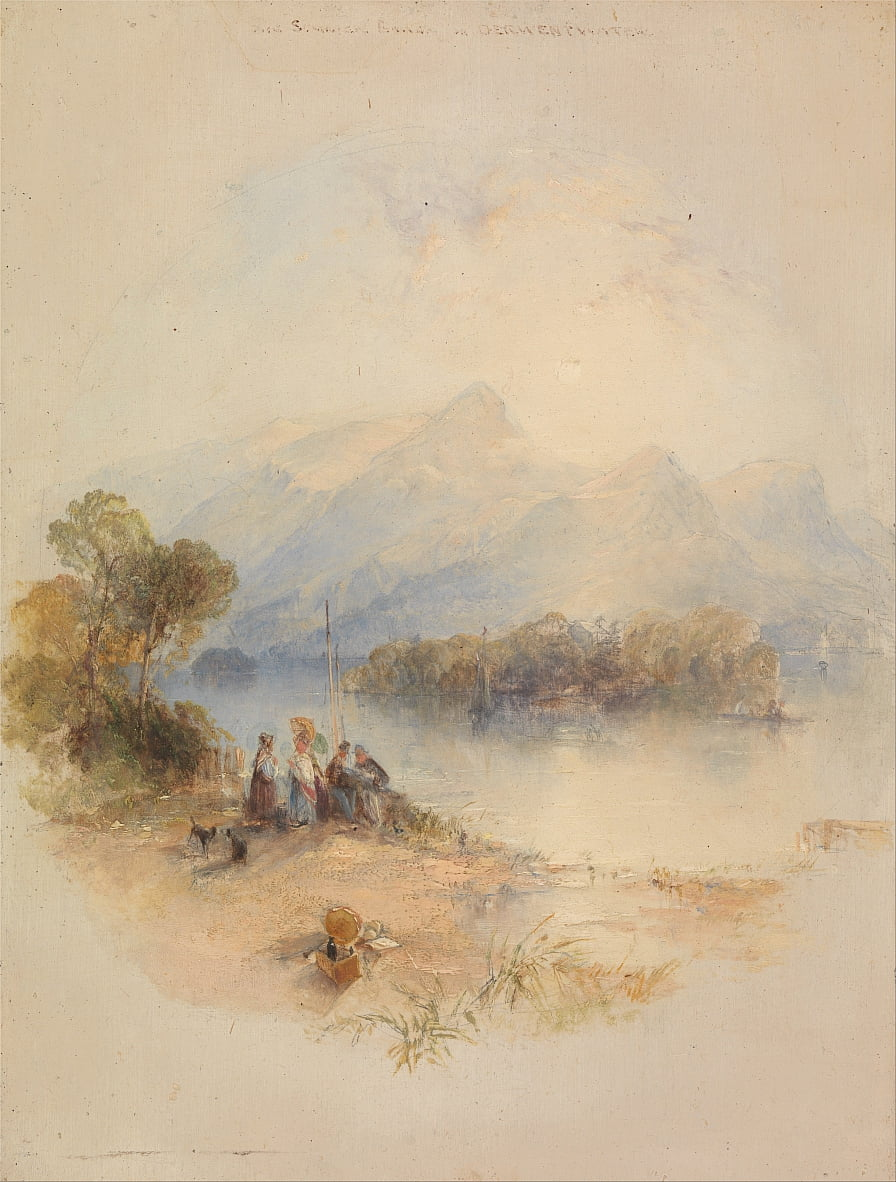 The Summer Bower, Derwent Water de Thomas Creswick
