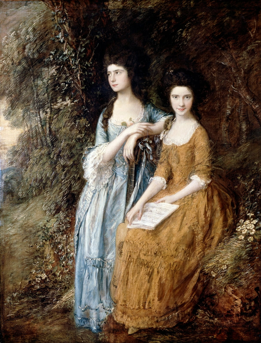 Elizabeth y Mary Linley de Thomas Gainsborough